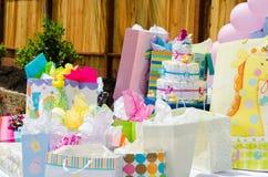 Babypartygeschenke Stockbild