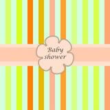Babypartykarte withframe für Ihren Text Stockfoto