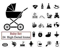 24 babypictogrammen Royalty-vrije Stock Foto's