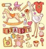 Babypictogrammen, vectorillustratie Royalty-vrije Stock Fotografie