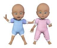 Babypoppen Royalty-vrije Stock Foto's