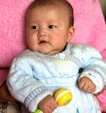 Babyporträt Stockbilder