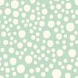 Babypret Hand Getrokken Dots Asymmetrical Seamless Pattern, Gestippelde Zwitser Royalty-vrije Stock Foto's