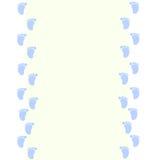 Babyrahmen mit Babyabdrücken Stockfotos