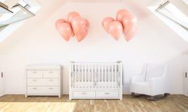 Babyraum auf Dachboden lizenzfreies stockfoto