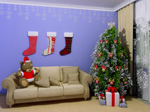 babyroom childroom Χριστούγεννα στοκ εικόνες