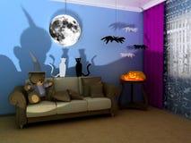 Babyroom di Halloween (childroom) Fotografia Stock Libera da Diritti