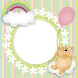 babys玩具熊浮动的格式 免版税库存照片