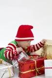 babys рождества настоящие моменты сперва стоковые фотографии rf