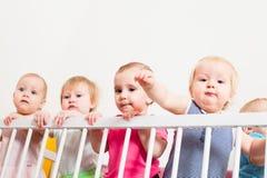 Babys in de voederbak royalty-vrije stock afbeeldingen