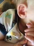 Babys ear. Cute little babys ear Royalty Free Stock Images