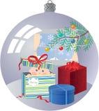Babys första jul Arkivfoto