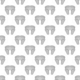 Babys feet seamless pattern Royalty Free Stock Images