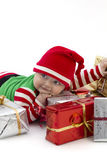 Babys First Christmas Happy Royalty Free Stock Image