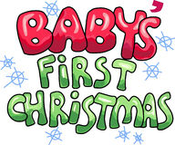 BABYS FIRST CHRISTMAS Stock Photography