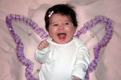 Babys First Halloween. Cute little angel costume for this little one year old girl stock photos
