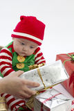Babys First Present Royalty Free Stock Photography