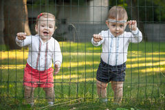 Babys girls, less than a year old Stock Photos