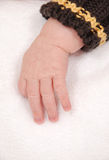 Babys hand. Reaching down with fingers outstretched Royalty Free Stock Photography