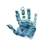 Babys handprint Royalty Free Stock Image