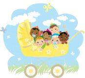 Babys in met fouten vector illustratie