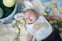 Babys première Pâques images libres de droits