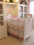 Babys Room. Crib in baby's room Royalty Free Stock Image