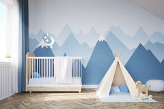 Babys room with a bed and tent Royalty Free Stock Photos