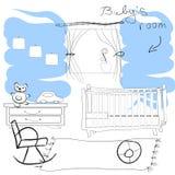 Babys  room. Hand draw   illustration Stock Photo