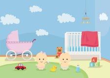 Babys sztuki pokój ilustracja wektor
