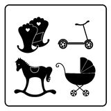 Babys theme. Illustration childrens motive on the white background Royalty Free Stock Images