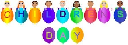 Babys van verschillende nationaliteiten Internationale kinderen` s dag vector illustratie