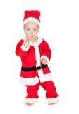 Babysanta met suikergoedriet Royalty-vrije Stock Afbeeldingen