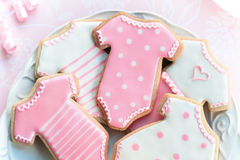 Babyshower cookies stock image