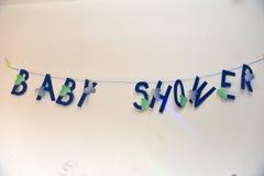 Babyshower-Fahne Stockfoto