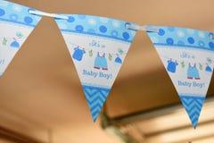 Babyshower sztandar zdjęcia royalty free
