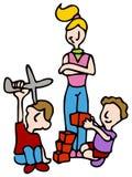 Babysitter vector illustratie