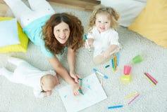 Babysitter stock foto's
