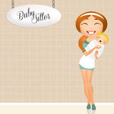 Babysitter Royalty Free Stock Images