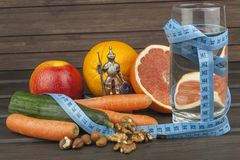 Babysitting dietary regime. Dietary adherence to the diet program. Fresh dietary food for athletes. Royalty Free Stock Image