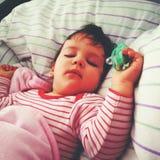 Babyslaap Royalty-vrije Stock Afbeeldingen