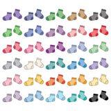 Babysokken, geïsoleerd voorwerp stock illustratie
