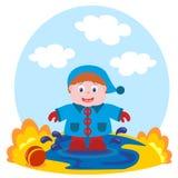 Babyspiele im Pool Stockfotografie