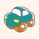Babyspielzeugauto-Themaelemente Stockfotos