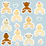 BabyStickers Stock Foto