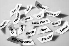 Babyverzorging Stock Fotografie