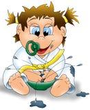 Babyvoeding Royalty-vrije Stock Afbeeldingen