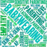 Babywearing Word Cloud. On a white background Stock Photography