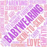 Babywearing Word Cloud. On a white background Royalty Free Stock Photos