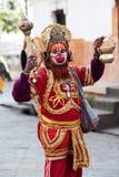 Babza indù di Hanuman di sadhu (uomo santo) Fotografie Stock